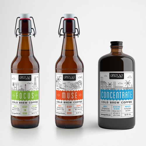 Labels for cold brew coffee