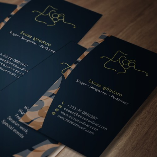 Design a new business card for Esosa