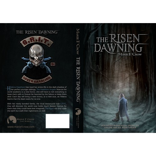 Fiction / horror book cover for The Risen: Dawning