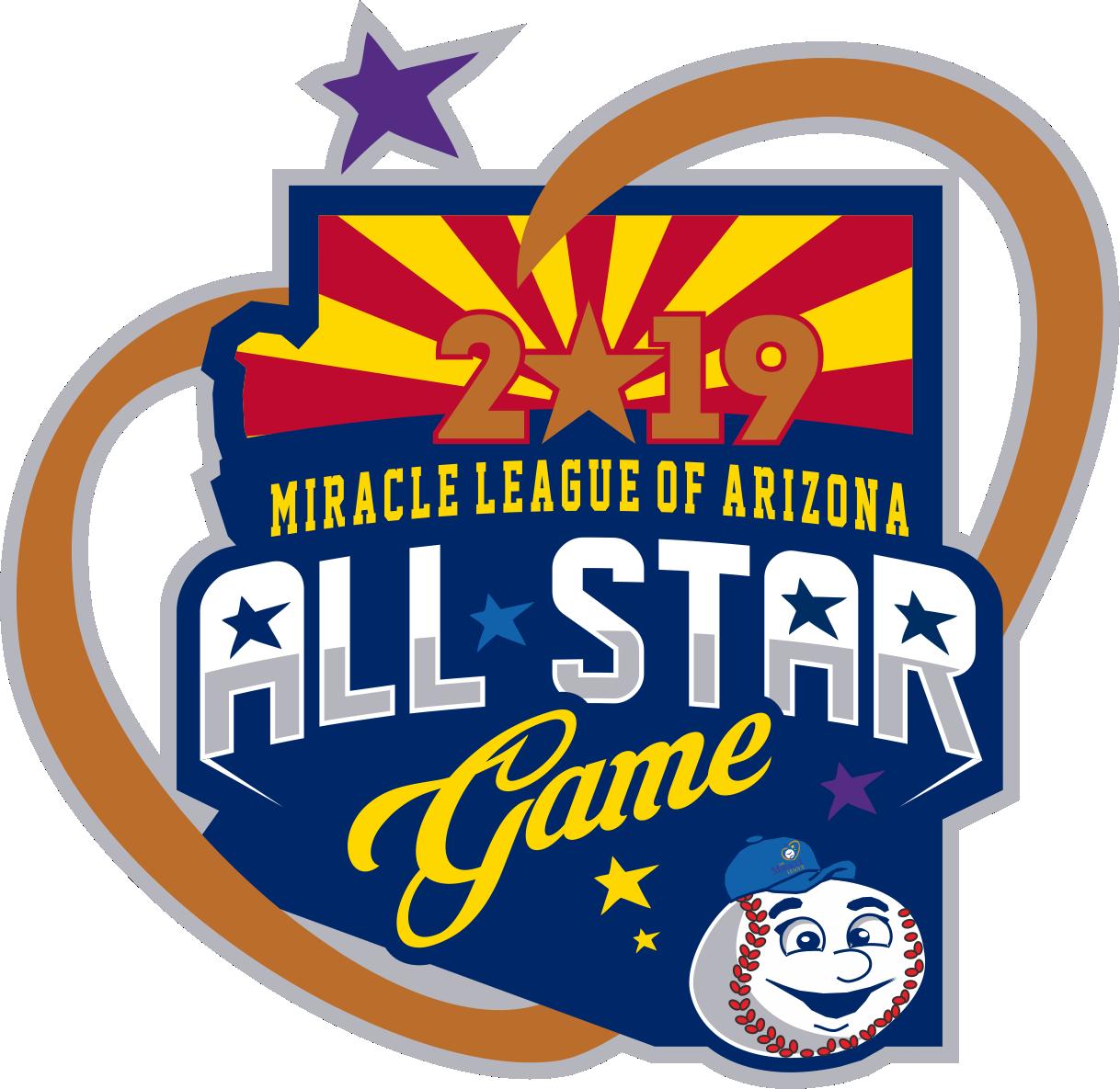 Create Fun Miracle League of Arizona Baseball All-Star Game Logo