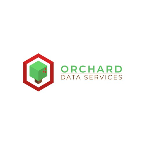 simple and modern logo for Orchard Data Services