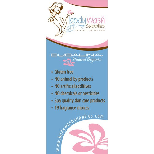 Trade Show banner needed for Body Wash Supplies