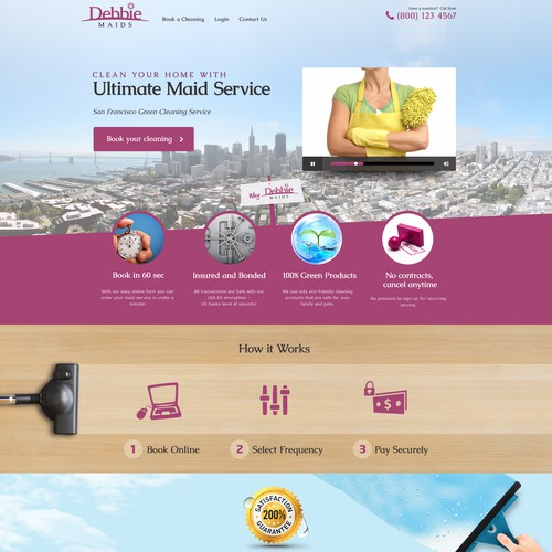 Create the best web page for a budding house cleaning company!!