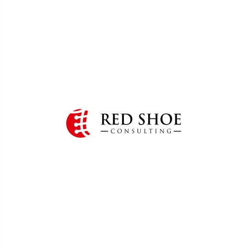 modern and clean logo for Red Shoe