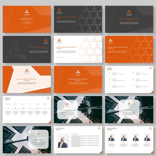 Powerpoint template for digital and advertising agency