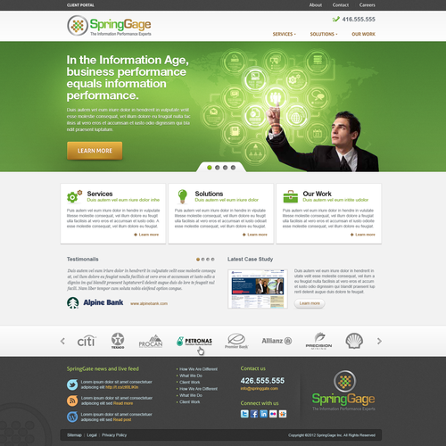 Website design for SpringGage