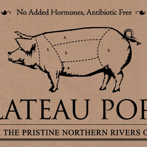Create the next logo for Plateau Pork