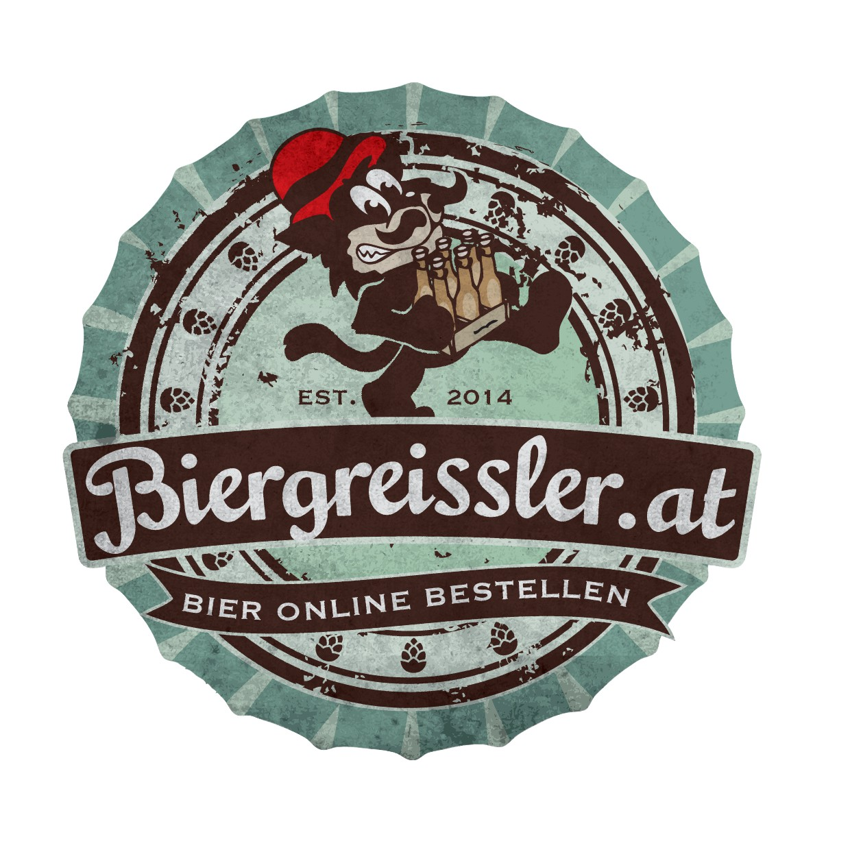 Create a Vintage/Shabby Chic Logo for a Beer Online Shop