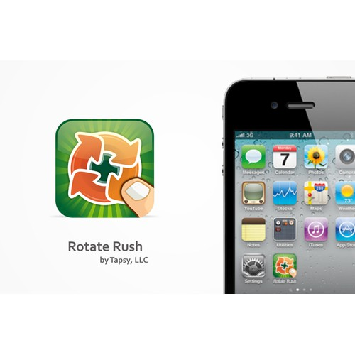 Rotate Rush iOS icon Design