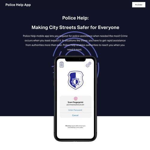 Police Help App website