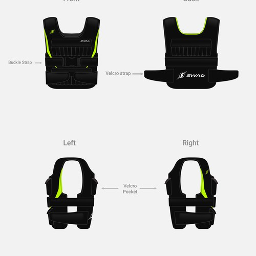 Swag, weighted vest.