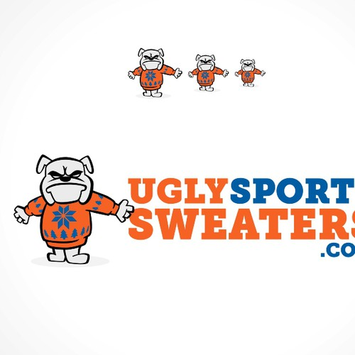 Create a logo for the website UglySportsSweaters.com
