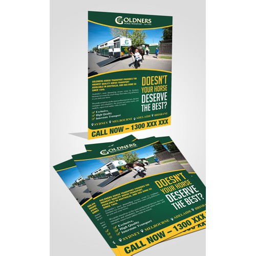 Full page text advertisment for premium transport company