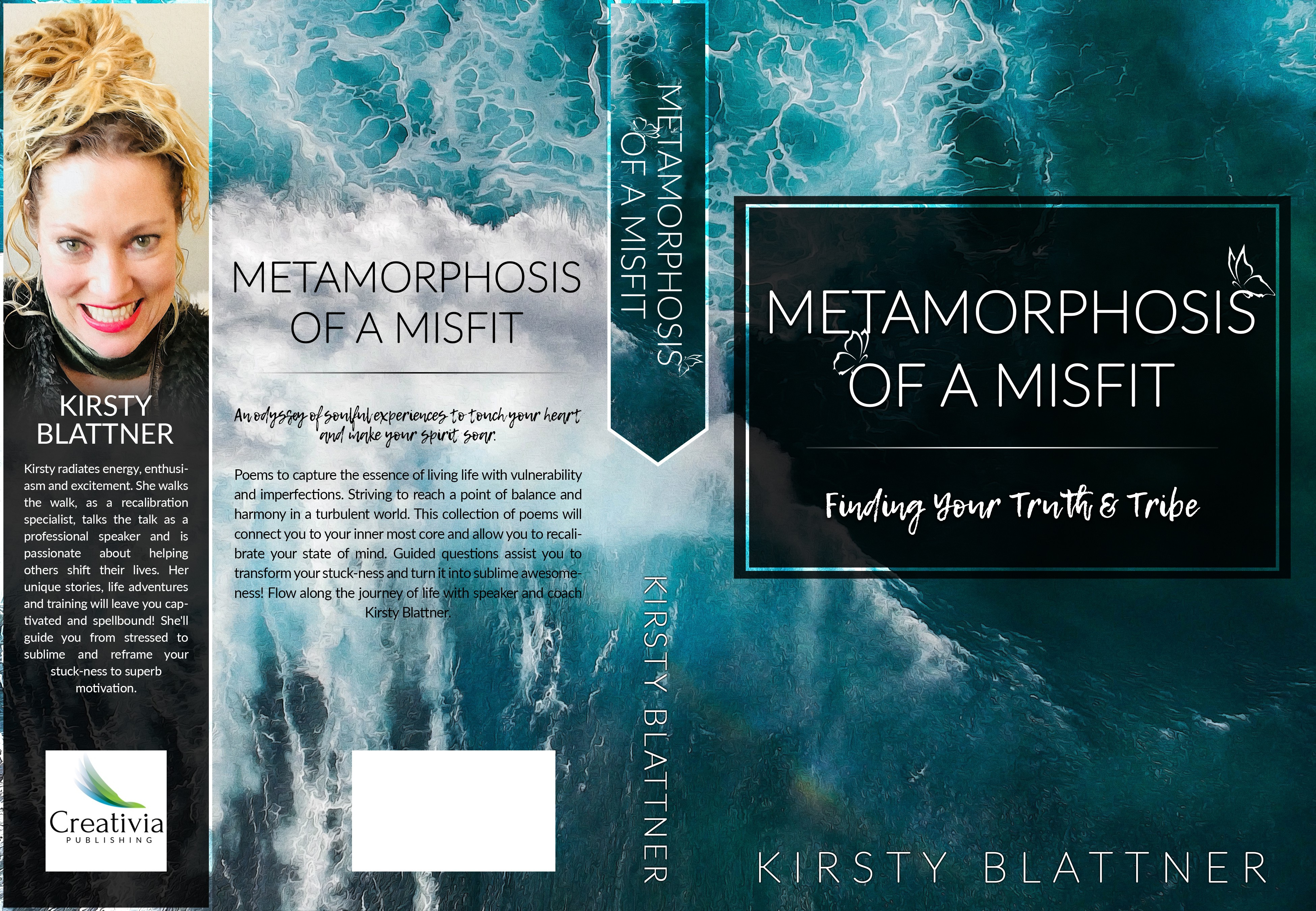 Design a book cover for Metamorphosis Of A Misfit