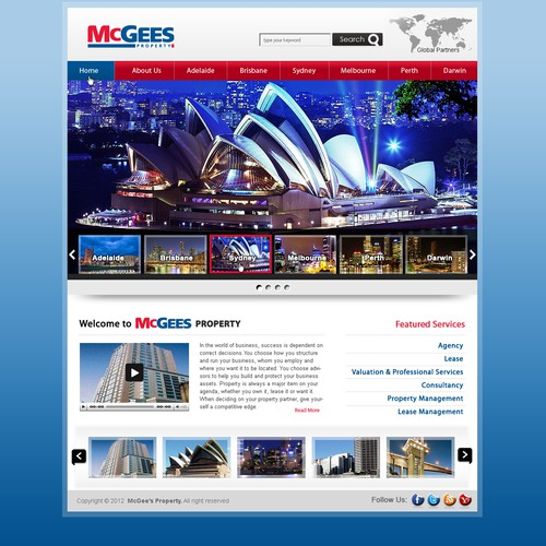 Create the next website design for McGees Property