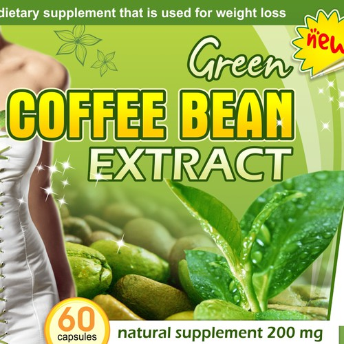 Label for Green Tea Coffee Bean Extract Supplement