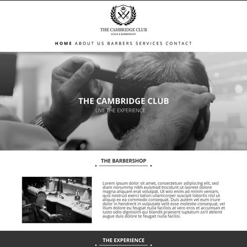 Website design for a barbershop