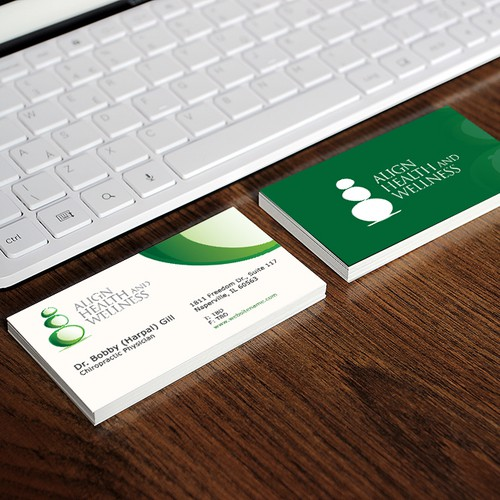 Align health and wellness business card