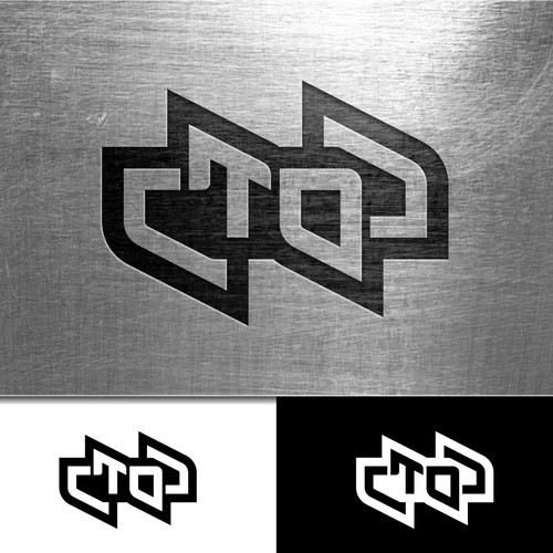 Electronic music artist type treatment logo