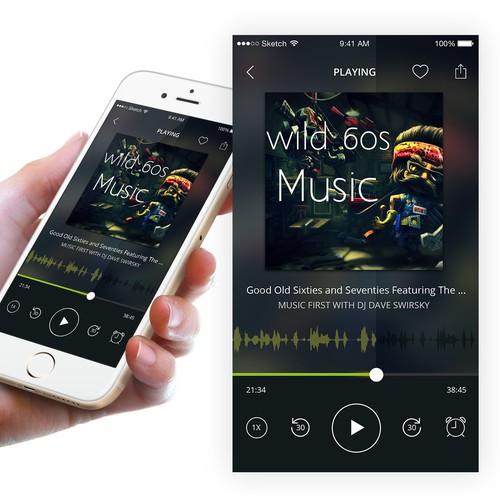 Concept Music App - Audio Player