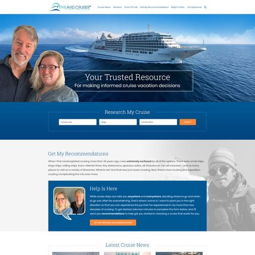 Avid Crusier, Modern Website Landing Page