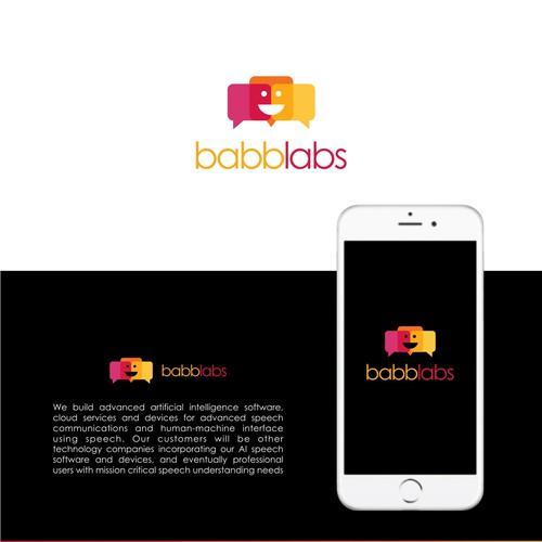 Bold logo concept for babblabs.