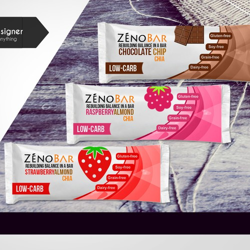 Wrapper for a new nutritional bar -- ZēnoBa,Entry