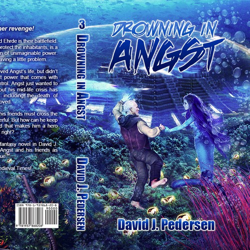 Fantasy Book Cover Design Under Water
