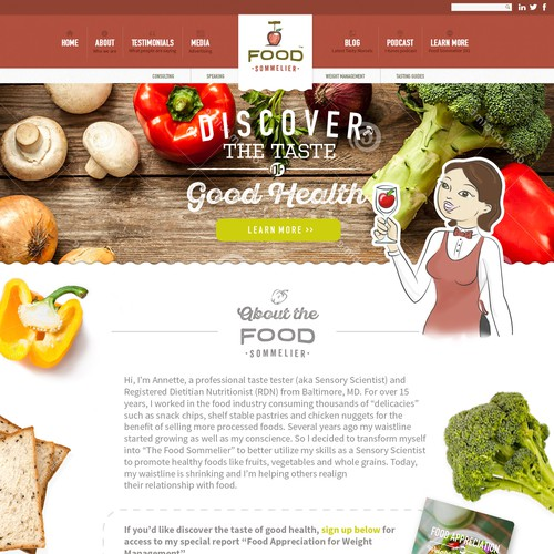 Website Design for Nutritionist