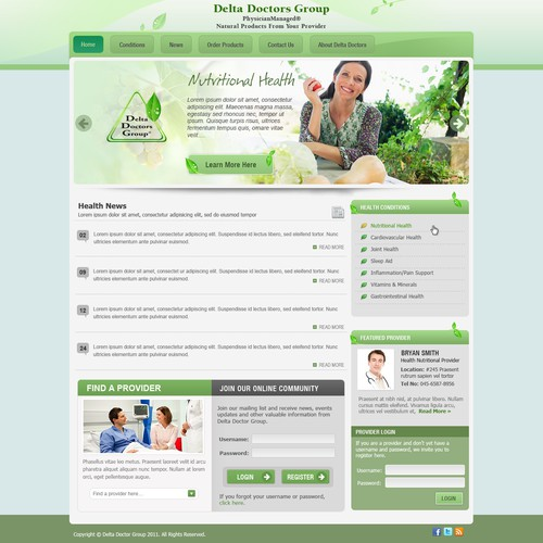 Create the next website design for Delta Doctors