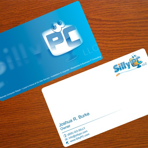 Catchy Business Cards For SillyPC LLC