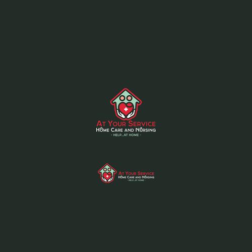 Home care and nursing Logo design