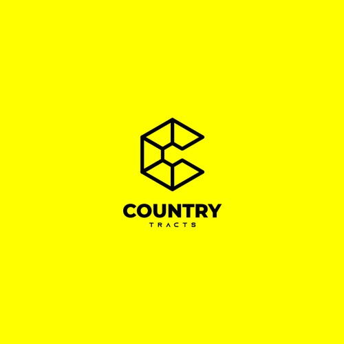 Modern minimalist logo concept for real estate company