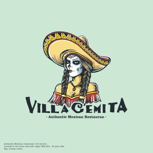 Iconic Logo Character for Mexican Restaurant