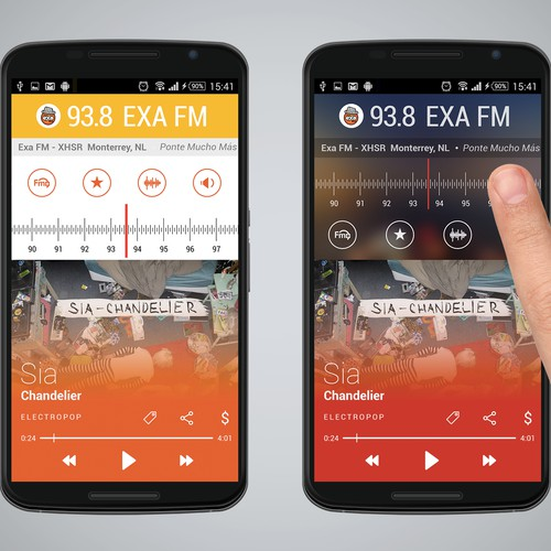 Re-Imagine Broadcast Radio - Android app re-design.