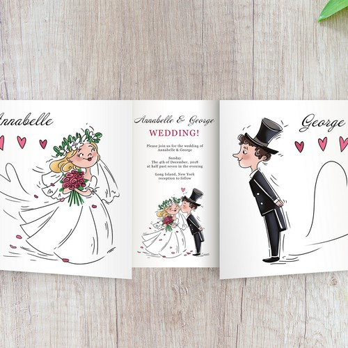 Wedding card illustration & design