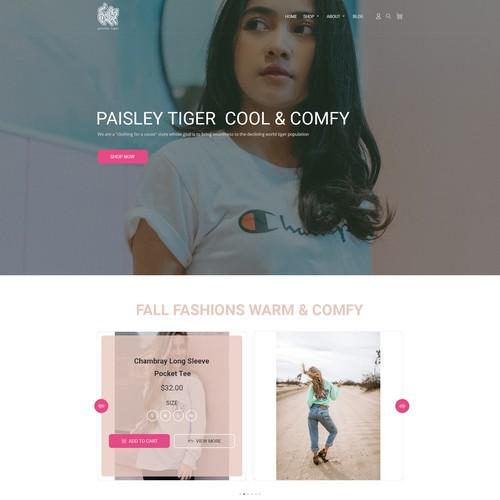 Paisley Tiger Landing Page