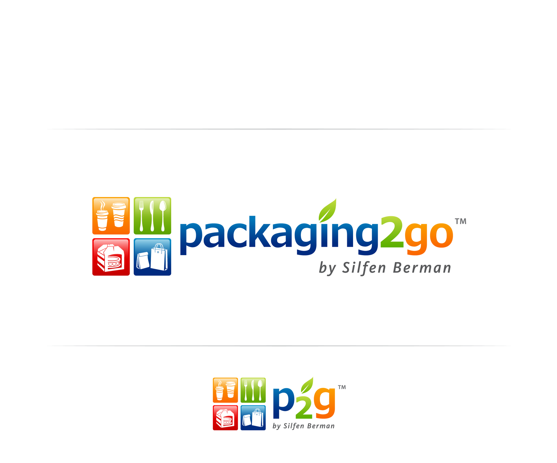 Help Silfen Berman Paper Co. Inc.   aka P2G ( packaging 2 go )  with a new logo