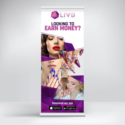 LIVD (Pull Up Banner Design)