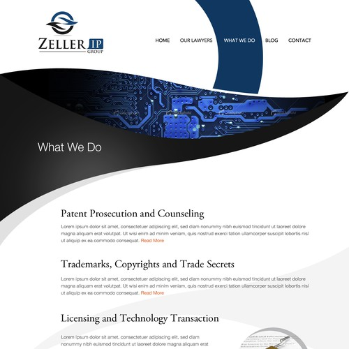 Zeller IP Group, PLLC needs a new website design