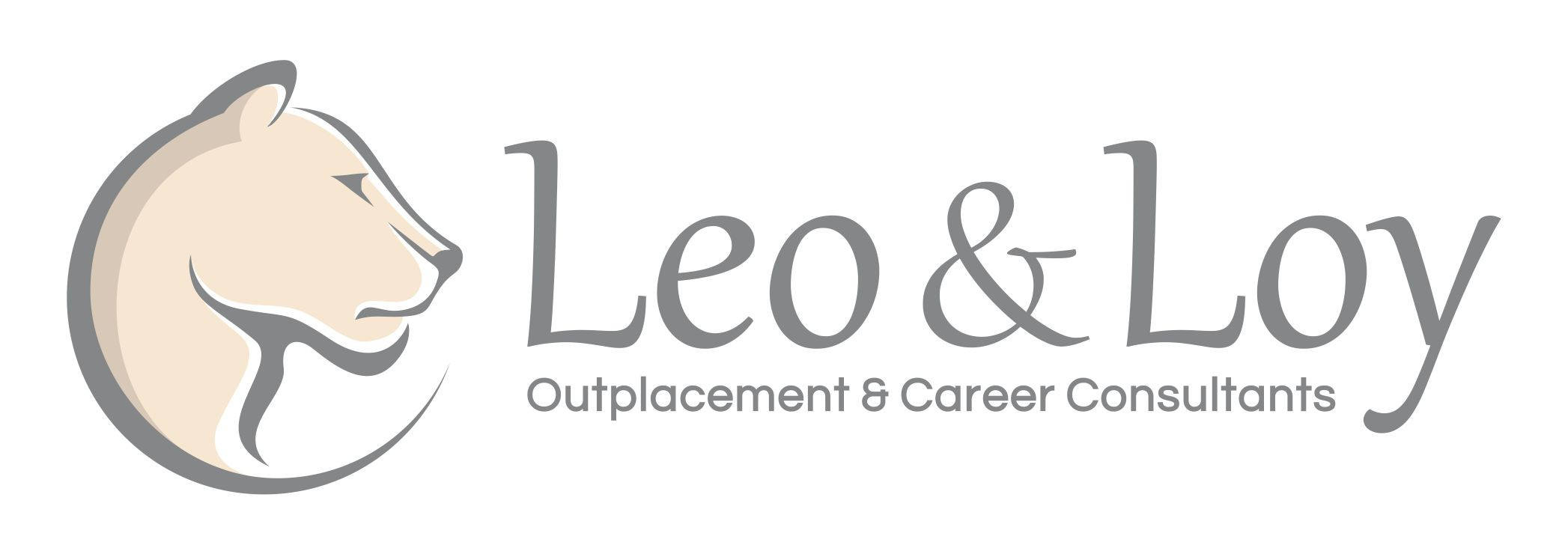 Logo with Lioness face, for Leo & Loy. We are female owned consultants.
