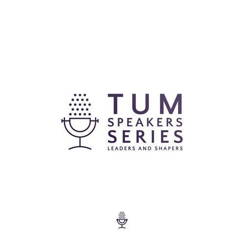 Line-based logo for speaker conference