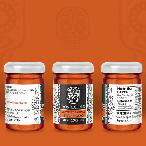 Don Catrin - Agave Worm Salt - label