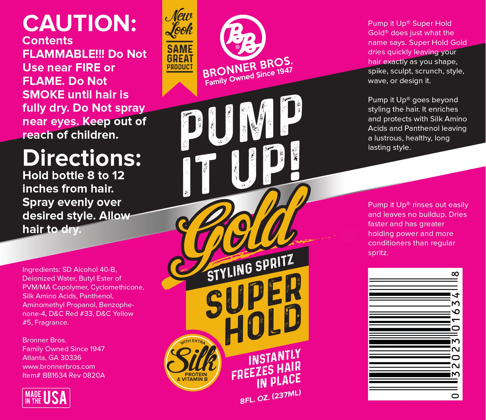 Pump it Up label needs a new look