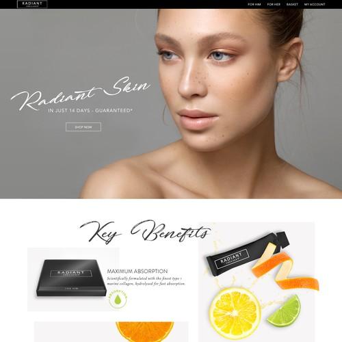 Premium Skincare Landing Page