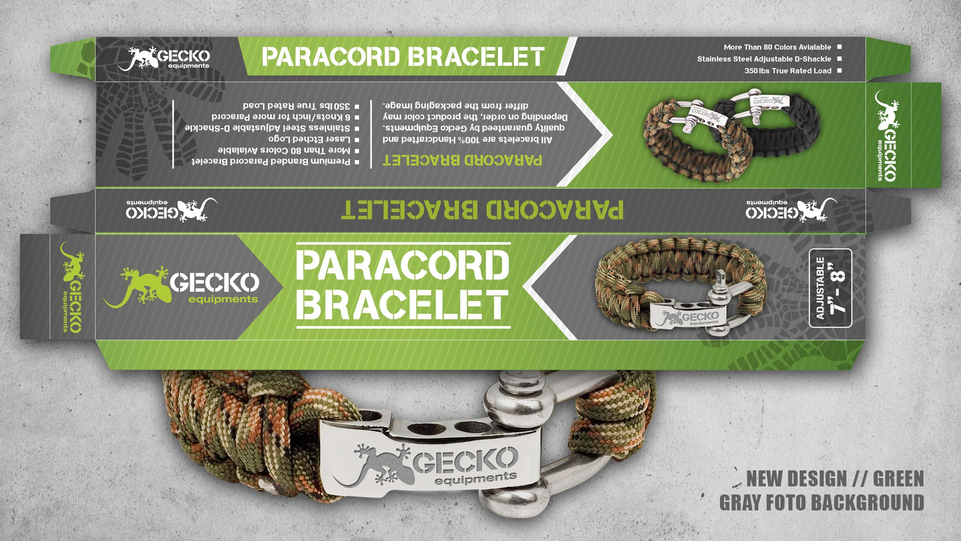 """Create a Killer """"High Quality"""" Packaging for Our Gecko Paracord products."""
