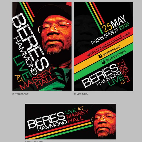 Beres Hammond Concert Print and Web designs