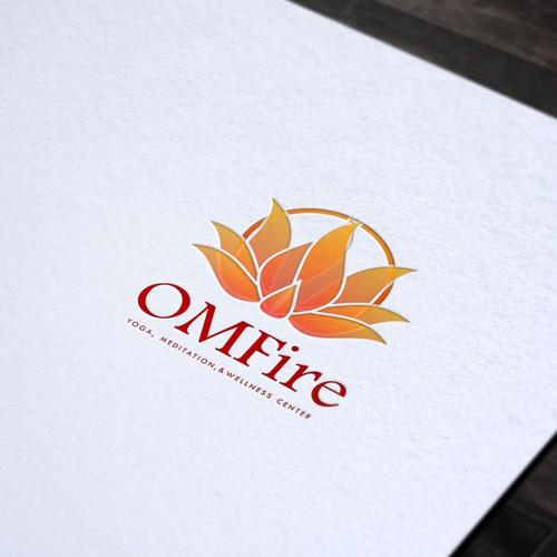 Lotus Design Logo for OmFire yoga