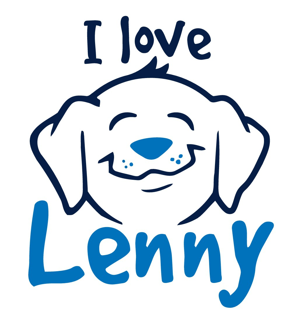 T-shirt design 'I love Lenny' for a dog Activity, Training, and Learning Center