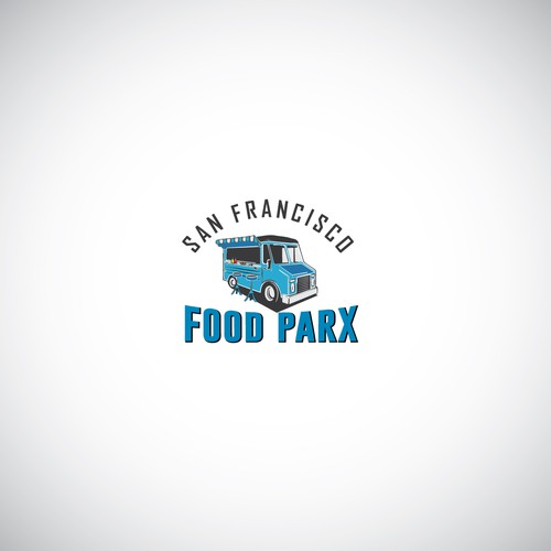 A logo for the food trucks company
